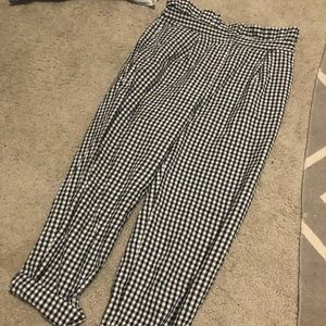 Pants - Plaid pants